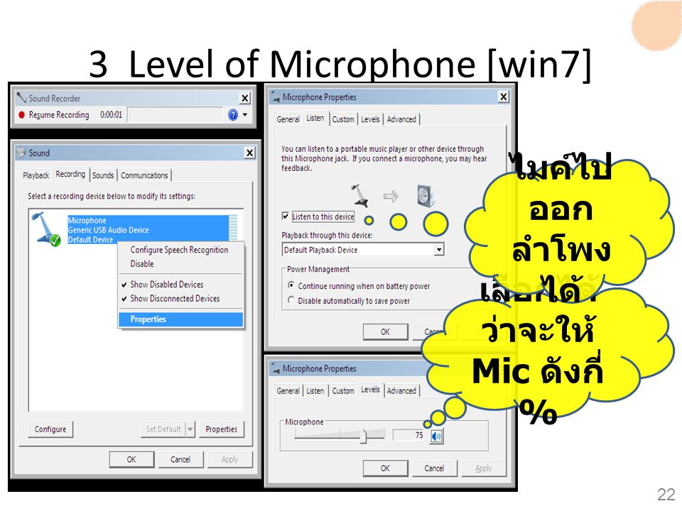 3 Level of Microphone [win7]